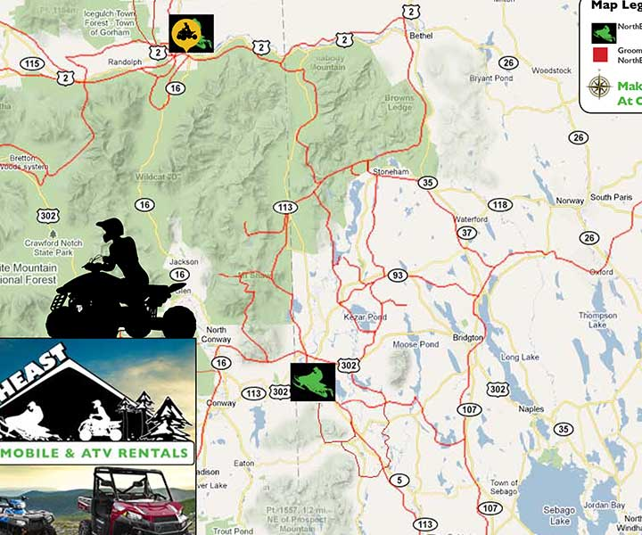 Nh Snowmobile Trails Map on